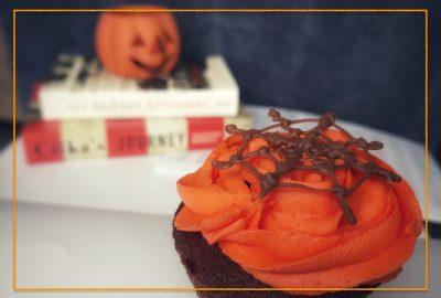 Halloween cupcake baking